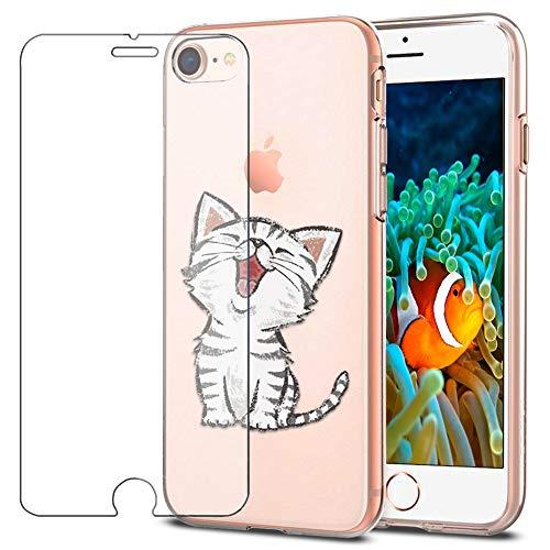 MadBee Schutzhülle für iPhone + Displayschutz aus gehärtetem Glas Apple Iphone Premium Holster