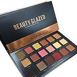 18 Farben Schönheits Kosmetik Wasserdicht Lidschatten Palette Eyeshadow-Nature Glow Schimmern Glitzer Matt Augen Schatten