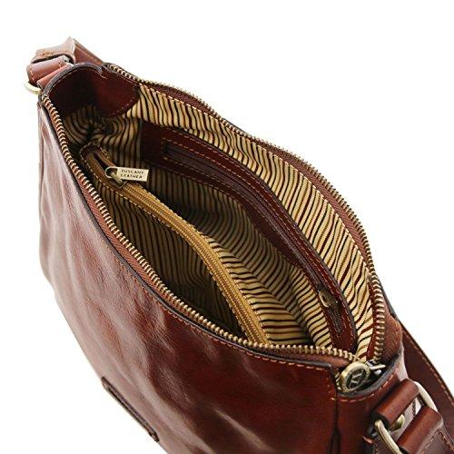 Tuscany Leather Cristina Borsa a tracolla in pelle Testa di Moro Nero