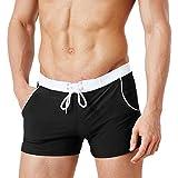 Ai.Moichien Herren-Badehose Badehose Lauf Workout Gym Active Short Pants schwarz L