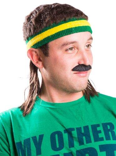 Generique - Vokuhila Stirnband gelb grün Mulletonthego