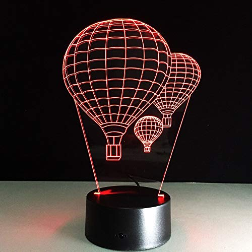 Luce notturna a mongolfiera colorata Luce notturna visiva per tavolo da tocco per bambini Luce notturna per dorm
