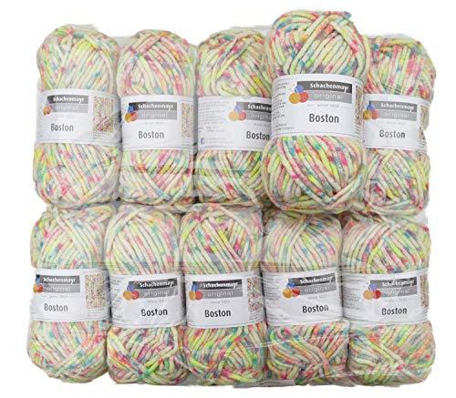 Boston Wolle (Schachenmayr Boston 00082 Clown Spot Color ca. 55 m 10x50 g)