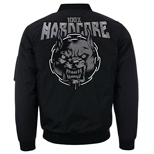 Hardcore Bomber Jacke Rage Black - XL