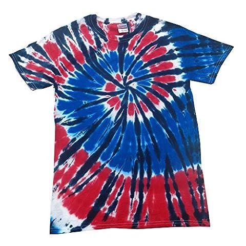 Bullshirt's Unisex Tie-Dye T-Shirt (Independence). (XXL, Independance)