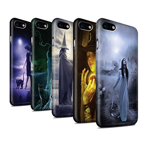 Officiel Elena Dudina Coque / Clipser Matte Etui pour Apple iPhone 8 / Orbe/Sorcellerie Design / Magie Noire Collection Pack 6pcs