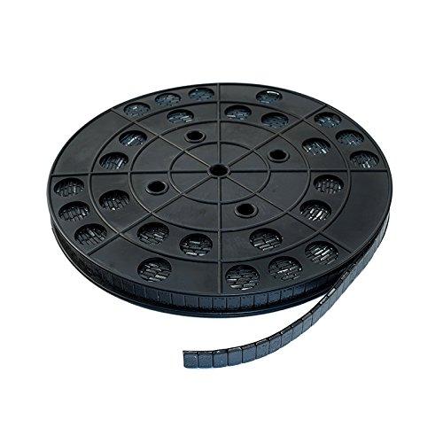 Auswuchtgewichte PKW Klebegewichte Alufelgen Rolle Stahl (Fe) Std. h=4mm b.19mm 6Kg (1200x5g) Made in EU 1200 Stück 6000g (schwarz)