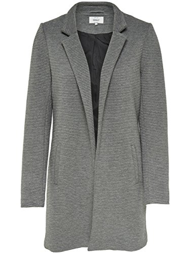 5cecfb157111 ONLY Damen Mantel Onlsoho Link Coatigan Cc Tlr Dunkelgrau ( Dark Grey   Detail  Melange