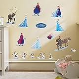 Smart Art Disney Frozen Wandsticker Schön Schnee Prinzessin Wandaufkleber-Anna Elsa Kristoff Sven-Beste Wandtattoos Tapete Wanddekorationen zum Weihnachten