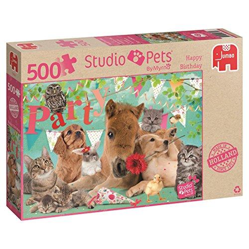 Jumbo Studio Pets Happy Birthday Puzzle (500Stk)