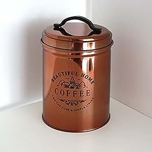 GALZONE boîte café cuivre brillant, env. 14,5 cm