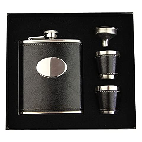 Seasofbeauty 7oz Deluxe Stainless Steel Wine Liquor Hip Flask Set Men Gift … (#2)