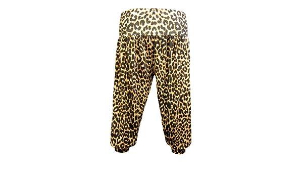 ed039b3b6bc7 Body2Body Neuf Femmes 3 4 Harem Imprimé léopard Femme Baggy Pantacourt  Short Pantalon 8-16  Amazon.fr  Vêtements et accessoires