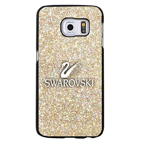 Glitter golden swarovski logo phone case cover for samsung galaxy s6 edge plus swarovski rock crystal fabulous