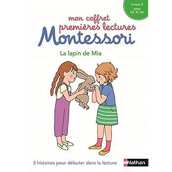 Mon coffret premières lectures Montessori : Le lapin de Mia - Niveau 2 - 4/7 ans