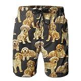 bikini bag Golden Retriever Dog with Liner Mens Boardshorts Swim Trunks Men Tropical Running Soccer Board Shorts Bathing Swim Trunks