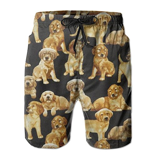 bikini bag Golden Retriever Dog with Liner Mens Boardshorts Swim Trunks Men Tropical Running Soccer Board Shorts Bathing Swim Trunks