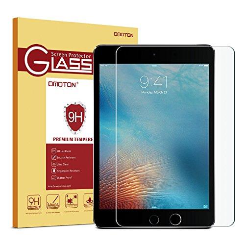 "OMOTON Ultra Clear 9H Hardness Tempered-Glass Screen Protector iPad 2018 & 2017 9.7"" / iPad Pro 9.7 Inch/iPad Air 2 / iPad Air"