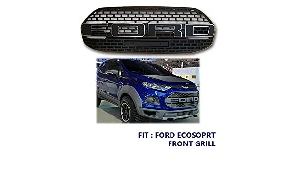 Fit For Ford Ecosport  Front Grill Suv Raptor Grille Black Matte Type Amazon Co Uk Car Motorbike