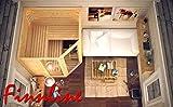 Finnline Massivholzsauna Family I 220 x 190 x 200 cm mit Eckeingang I 45 mm massiv I 5-Eck I Inkl. Saunaofen & Steuerung I Inkl. Lieferung I Saunakabine I Saunaanlage I Saunabau I Saunazubehör - 2