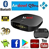 Smart TV Box ANDOWL Q9 Pro Android 7.1.2 4K 4GB RAM 32 GB ROM IPTV con Teclado 5-Wireless