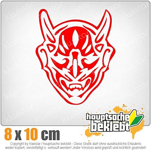 Preisvergleich Produktbild Teufel 9 x 11 cm IN 15 FARBEN - Neon + Chrom! Sticker Aufkleber