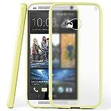 moex HTC One M7 | Hülle Slim Transparent Beige Impact Back-Cover Dünn Schutzhülle Silikon Handy-Hülle für HTC One M7 Case TPU Tasche Matt