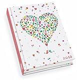 Happy Heart - Kalenderbuch A6 - Kalender 2018 - DuMont-Verlag - Taschenkalender mit Schulferien und Lesebändchen - 11,3 cm x 16,3 cm