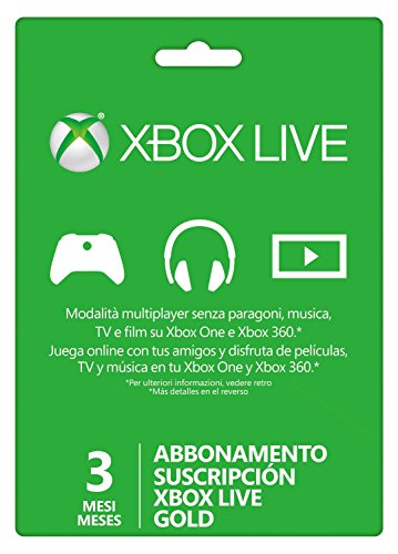 Microsoft - Live 3 Meses Gold Card (Xbox 360/One)