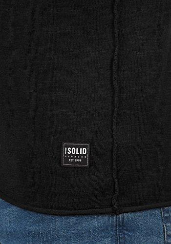 SOLID Krimmich Herren Strickpullover Feinstrick Pulli mit Rundhals-Ausschnitt aus 100% Baumwolle Black (9000)
