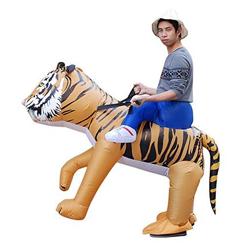 Kostüm Tiger Adult - JJAIR Halloween aufblasbare Tiger Kostüme für Erwachsene und Kinder,Adult