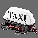 Taxi Top con cable y enchufe de luz/Taxi de Nueva techo señal de 12V con base magnética blanco
