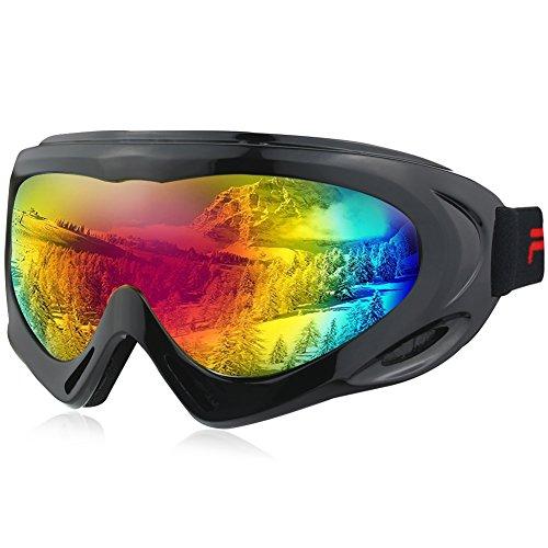 Jugend-snowboard-paket (Magic Zone OTG Skibrillen über Gläser Ski Snowboard Goggles für Männer, Frauen & Jugend 100% UV Schutz)