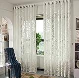 Sheer Window Rideaux Premium Transparent Jacquard brodé Hollow Salon/drapieren/Panneaux/Traitement Taille 40* 110inch