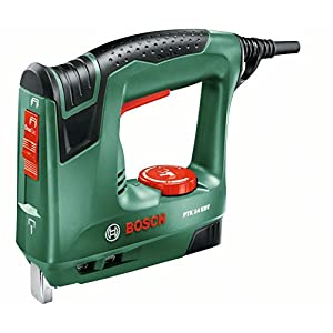 Bosch PTK 14 EDT – Grapadora eléctrica válida para grapas y clavos (240 W)