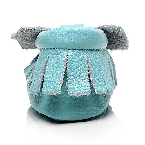 Jamron Bébé Charmant Bowknot Houppe Chaussures Berceaux Enfant Bambin Semelle Molle Prewalker Baskets 0-24 Mois Bleu Ciel