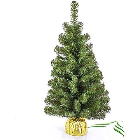Mini albero di Natale VARSAVIA, verde, oro, 90 cm, Ø