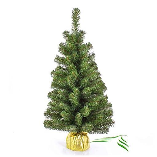 Albero Di Natale 50 Cm.Mini Albero Di Natale Varsavia Verde Oro 90 Cm O 50 Cm Albero