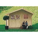Gartenpro - Rosita - Caseta de madera para jardín de color abeto natural