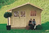 Rosita - casetta in legno da giardino colore abete naturale Gartenpro