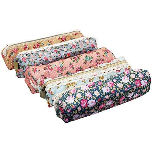 swebgo-5-pack-varios-flores-lienzo-pen-holder-papelera-bolsas-de-maquillaje-con-estuche