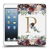 Head Case Designs Offizielle Nature Magick R Blumen Monogramm Blumig Gold 2 Soft Gel Hülle für iPad Mini 1 / Mini 2 / Mini 3