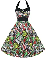 Hell Bunny 50's Horror B-Movie Prom Party Dress