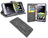 LG X CAM // Buchtasche Hülle Case Tasche Wallet BookStyle