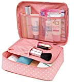 #1: ASkyl Waterproof Portable Travel Cosmetic Make up Organizer Toiletry Bag of Case Accessories Organizer for Man and Women (Color May Vary)
