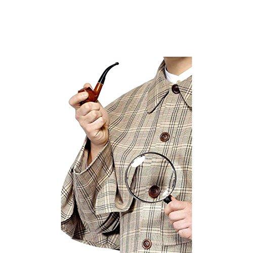Spion Zubehör Kostüm - NET TOYS Sherlock Holmes Kosüm Detektiv Set Detektivset Pfeife und Lupe Spion Kostüm Zubehör