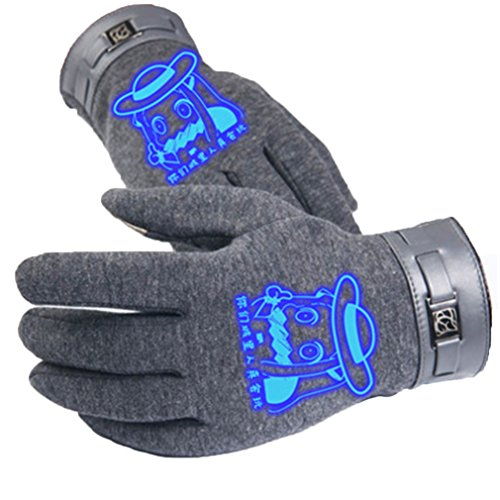 Bromeo Kantai Collection Anime Hiver Chaud Lumineux Écran Tactile Gants Gloves Mittens Gris 6
