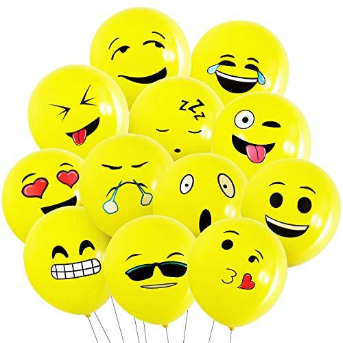 Globos de Emoji Lindo - 100pcs MOOKLIN Globos de Fiesta Globos de Helio juego para Juego de Gracioso o Decoración de Fiesta de Boda Cumpleaños