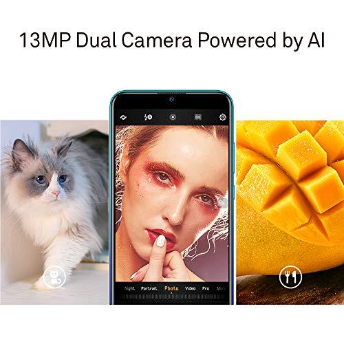 Huawei P Smart 2019 64 GB 6.21-Inch 2K FullView Dewdrop SIM-Free Smartphone with Dual AI Camera, Android 9.0, Single SIM, UK Version - Aurora Blue Img 2 Zoom
