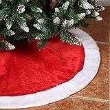 Yorbay Weihnachtsbaumdecke Weihnachtsbaum-Unterlage, Ø 120cm, Rot-Weiß, Schutz vor Tannennadeln, für Weihnachtsbaum, Weihnachten Deko